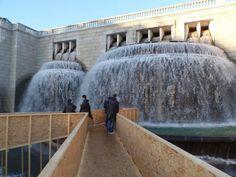 Fonte Luminosa: intervenção leva visitantes até dentro d'água. Foto: Câmara Municipal de Lisboa