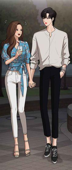 Pretty Anime Girl, Beautiful Anime Girl, Cute Anime Boy, Anime Art Girl, Cute Couple Art, Anime Love Couple, Cute Couples, Cha Eun Woo, Pelo Cafe