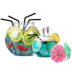 Cocktail Fish Bowl Set | Cocktail Party Set, Cocktail Accessories Set with Plastic Fish Bowl, 4 x Individual Fish Bowls, 250 x Alcopop Bendy Straws, 250 x Small Bendy Straws, 10 x Glitter Sticks and 24 x Paper Cocktail Umbrellas drinkstuff http://www.amazon.co.uk/dp/B00G9KPU6Y/ref=cm_sw_r_pi_dp_7jLJtb1271ZNHH2S