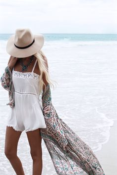 Daydreaming on the beach while wearing this. Life goals.