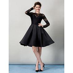 TS Couture® Cocktail Party / Company Party Dress Plus Size / Petite A-line Bateau Knee-length Lace with Lace – USD $ 119.99