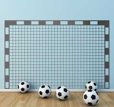 Football Wall Stickers Illustration of a rectangular goal post with a net. Sports wall stickers ideal for fans and sports teams.