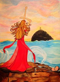 """""""Soul Surrender"""" (c) Michelle Bentham 2013. all rights reserved. Micah 7:19. Paper Doll Series, 3rd Ed."""