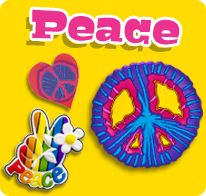 Demonstrate your excitement for peace with the GeoPalz Peace pedometers!