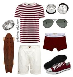 """""""Untitled #170"""" by ohhhifyouonlyknew ❤ liked on Polyvore featuring H&M, Abercrombie & Fitch, Ray-Ban, Converse and Blue Nile"""