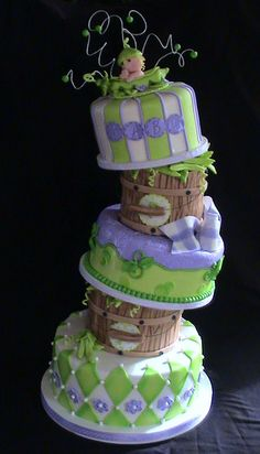 pea pod baby shower by Cakes By Roselyn, via Flickr
