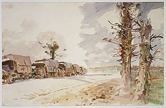 Truck Convoy by John Singer Sargent, American Paintings and Sculpture Medium: Watercolor and graphite on white wove paper Gift of Mrs. Francis Ormond, 1950 Metropolitan Museum of Art, New York,...