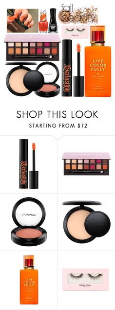 """""""Pumpkin Queen"""" by purplicious ❤ liked on Polyvore featuring beauty, Kat Von D, Sally Hansen, MAC Cosmetics, Kate Spade, Violet Voss and In Your Dreams"""