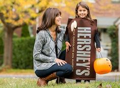 View this fun and easy Halloween inspired Dress-up your child as a HERSHEY'S Milk Chocolate with Almonds Bar craft from Celebrate with Hershey's