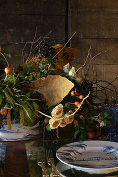 Holiday Prep: Southern Centerpieces 3 Ways. The Designers: Allison Jackson of Pineapple Productions in Washington, D.C., and Nick Watts of Amaryllis Designs in Landover, Maryland. #gardenandgun