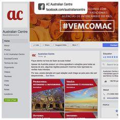 Produção de conteúdo e gerenciamento de rede social   Cliente: AC Australian Centre   Rede social: facebook.com/australiancentre   Exemplos de conteúdos produzidos: 1. facebook.com/australiancentre/photos/a.178038378923194.45147.101860049874361/1292762454117442   2. facebook.com/australiancentre/photos/a.178038378923194.45147.101860049874361/1277969115596776