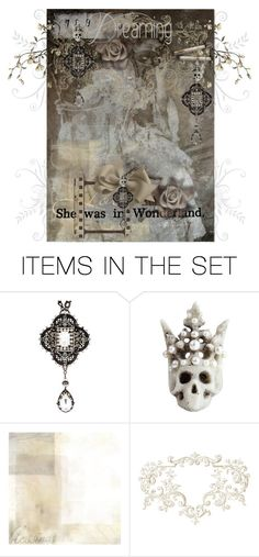 """She Was in Wonderland"" by tattered-rose ❤ liked on Polyvore featuring art"