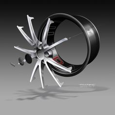 Audi TT ultra quattro concept - Wheel exploded design sketch