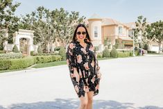 A Floral Romper Knot Sisters Wedges Chloe Sunglasses