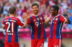Philipp, Xabi, and David Bayern vs Bremen 18.10.14
