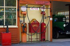 gas station in Illinois countryside