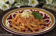 PANELATERAPIA - Blog de Culinária, Gastronomia e Receitas: Penne ao Molho Cremoso de Frango
