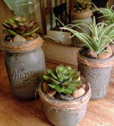 Succulent Wreath, Succulent Planters, Cacti And Succulents, Planting Succulents, Cactus Plants, Planter Pots, Patterson Park, Christmas Mason Jars, Mason Jar Centerpieces