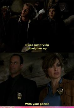 "funny celebrity pictures - ""Law & Order: SVU"" Dialogue is Serious Business"