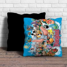 Mickey and Dumbo Take Flight at Disney Parks Pillow | Aneend