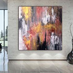 Large Abstract Wall Art-Dorm Decor Oil Paintings On Canvas image 0 Large Abstract Wall Art, Large Painting, Oil Painting On Canvas, Canvas Art, Colorful Artwork, Colorful Paintings, Original Paintings, Original Art, Oil Paintings
