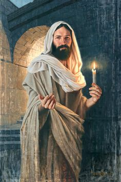 Pictures Of Jesus Christ, Jesus Christ Images, Jesus Son Of God, Abide With Me, Lds Pictures, Religious Pictures, Arch Light, Lds Art, Jesus Painting