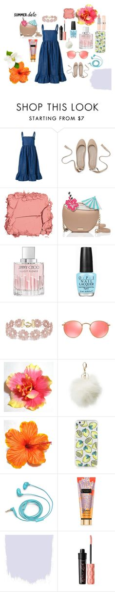 """wild flower"" by penny-charalambous on Polyvore featuring CO, Illamasqua, Kate Spade, Jimmy Choo, OPI, BaubleBar, Ray-Ban, Charlotte Russe, FOSSIL and Benefit"