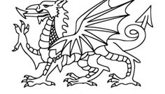 YAY Images - Welsh Dragon Outline by HomeStead Digital Daffodil Craft, Daffodil Flower, Symbol Of Wales, Bing Images, Saint David's Day, Crop Pictures, Welsh Dragon, Cool Dragons