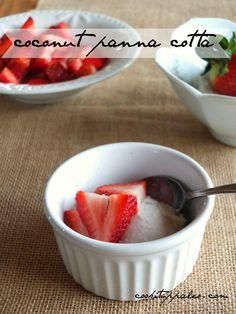 Coconut Panna Cotta (AIP) | Cook It Up Paleo