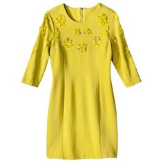 Kate Young For Target Beaded Shift Dress -Yellow