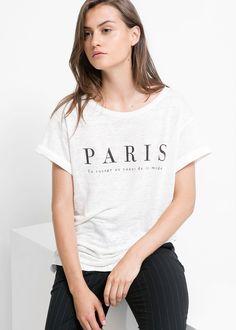 MANGO | Message linen t-shirt