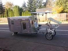 Image result for bicycle camper
