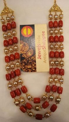 Ultimate 35 Gold Necklace Designs Images Of This Year Pearl Necklace Designs, Jewelry Design Earrings, Beaded Jewelry Designs, Coral Jewelry, Gold Jewellery Design, Bead Jewellery, Jewelry Patterns, Silver Jewelry, Ruby Necklace