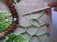 Outstanding Crochet: Irish Crochet Lessons: HOW, this part explains the netting Crochet Vintage, Crochet Diy, Crochet Cross, Freeform Crochet, Crochet Basics, Crochet Motif, Crochet Flowers, Crochet Stitches, Irish Crochet Tutorial