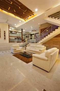 living room looks very spacious because of it 15 feet height.