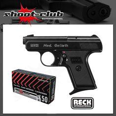 Reck Goliath Schreckschusspistole 9mm + Platzpatronen   #shootclub #Schreckschuss #pistol #ammunition