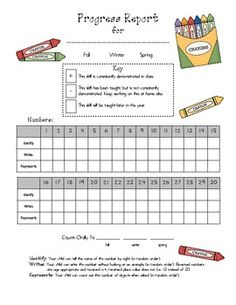 This Preschool Progress Report includes places to check off -Upper and Lowercase Letters (names, sounds and writing) -Numbers from (names, re. Preschool Assessment Forms, Assessment For Learning, Preschool Education, Preschool Lessons, Letter To Teacher, Kindergarten Readiness, Upper And Lowercase Letters, Progress Report, Writing Numbers