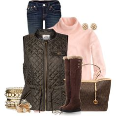 """Quilted Vest for Fall Contest 2"" by kginger on Polyvore"