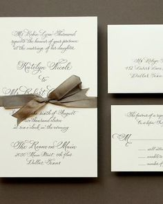 Classic Wedding Invitations - Formal Calligraphy. Timeless!