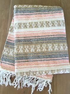 Mexican Blanket bohemian pastel colors
