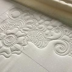 the beginnings of the quilting