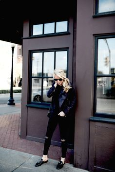 ASTR JACKET //GUCCI FLATS (SIMILAR FOR LESS HERE) // FRAME DENIM // GUCCI BAG// TIMEX WATCH Images by Mary Summers