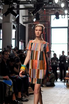 Marimekko Spring 2013 at New York Fashion Week #dress #patterns #geometric