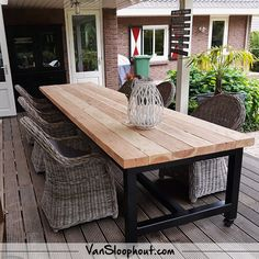 long time and effort you can also turn the location Home Remodeling And if you want to devote a long time and effort you can also turn the location And if you want to d. Diy Outdoor Table, Diy Patio, Backyard Patio, Outdoor Dining, Outdoor Furniture, Outdoor Decor, Timber Dining Table, Diy Dining Table, Patio Table