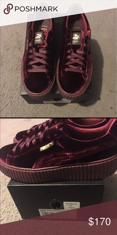 Rihanna fenty puma Size 9. Brand new. Velvet creeper. Sold out everywhere. No trades. Includes dustbag Puma Shoes Sneakers