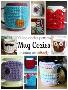 Mug cozies save your warm drinks, have a bit of fun while they're at it. So here are 10 free crochet patterns for mug cozies!