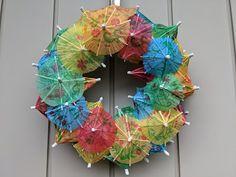 De Tafelfee: Parapluutje parasolleke, eentje voor de regen en e... Hanukkah, Summer Time, Wreaths, Decoration, Blogging, Rain, Decor, Daylight Savings Time, Door Wreaths