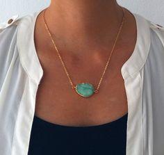 Collier Druzy Aqua menthe or Ombre Teal vert par Jewelsalem sur Etsy