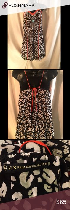 VIX Paula Hermanny💋Jaguar Print Dress/Swim Cover This is like new and amazing. I thought it was an adorable dress and I don't see why not. Apparently it's a swimsuit cover up. It does not come with tags. it's a size medium and is high quality. If you have any questions let me know 😊 VIX Paula Hermanny Dresses