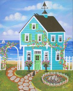 39 best kims cottage art images cottage art naive art acrylic art rh pinterest com